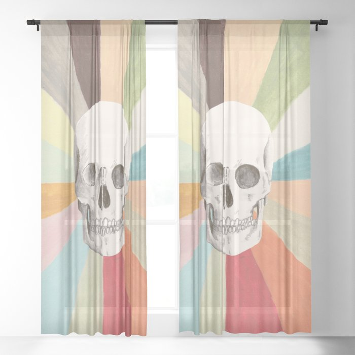 Skull is Cool Sheer Curtain