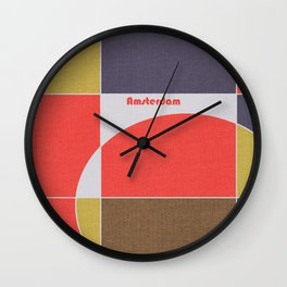 Amsterdam Mosaic Wall Clock