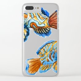 Fishes 03 Clear iPhone Case