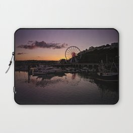 Torquay Harbour Sunset Laptop Sleeve