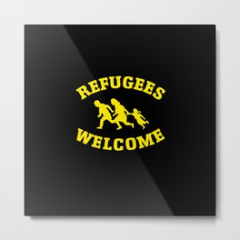 Refugees Welcome Metal Print