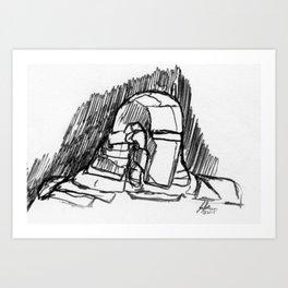 Warbot Sketch #049 Art Print