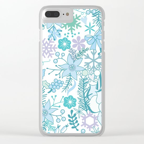 Bright xmas pattern Clear iPhone Case