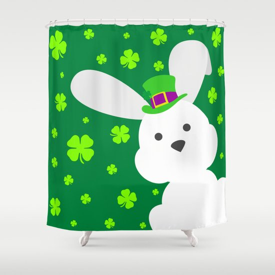 ST. PATRICK'S DAY BUNNY (abstract animals nature flowers happy ...