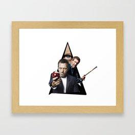 Youtriangle ∆ House, M.D Framed Art Print