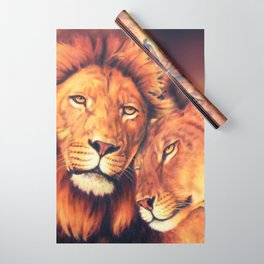 Lions Soulmates Wrapping Paper