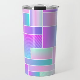 Abstract Holographic Pastel Pattern Travel Mug