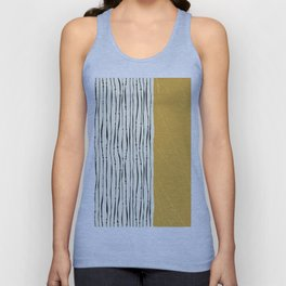 Gold Zebra Stripes Unisex Tank Top