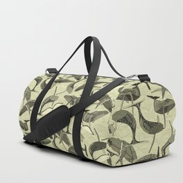 whales and waves natural Duffle Bag