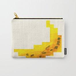 Yellow Banana Watercolor Geometric Fruit Hard Edge Pixel Art Carry-All Pouch