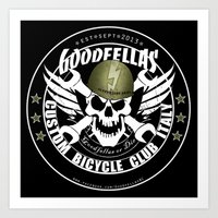 goodfellas Art Prints featuring Goodfellas Custom Bicycle Brigade - SUPPORTERS ARMY by Goodfellas Custom Bicycle Brigade