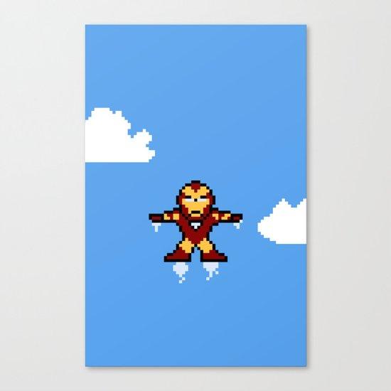 Iron Pixel Canvas Print