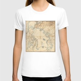 Map of the Arctic and Adjacent Regions (1855) T-shirt