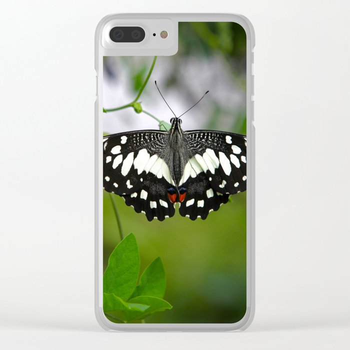 Butterfly Medium Clear iPhone Case