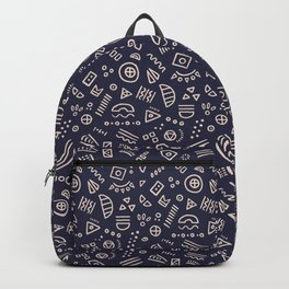 Symbolic Confetti - (Navy) Backpack