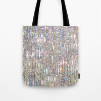 hologram Tote Bags featuring To Love Beauty Is To See Light (Crystal Prism Abstract) by soaring anchor designs