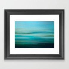 Greenish Blue Sea Framed Art Print