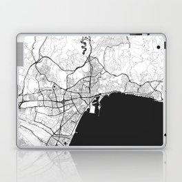 Malaga Map Gray Laptop & iPad Skin
