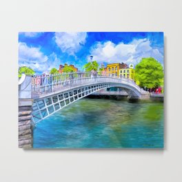 Ha'Penny Bridge - Historic Dublin Ireland Metal Print