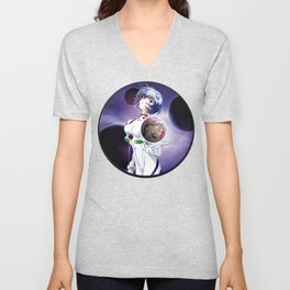 Ayanami Rei - Red Sea edit. Unisex V-Neck