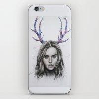 cara delevingne iPhone & iPod Skins featuring Cara Delevingne  by Pritish Bali