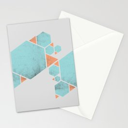Geometric Hexagons and Triangles Stationery Cards