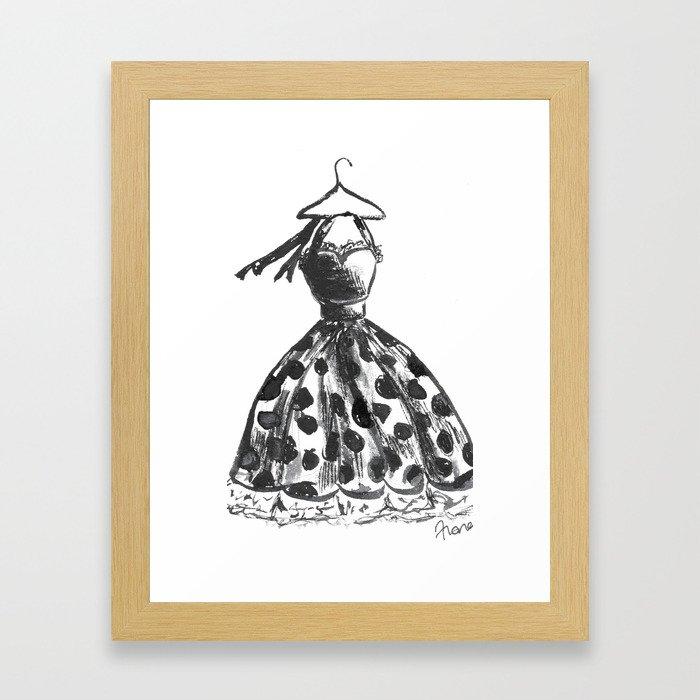 Noir Dress Framed Art Print