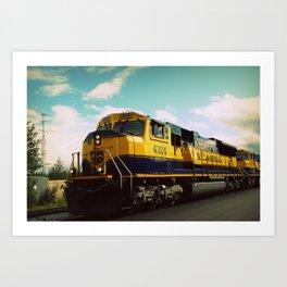 Alaska train Art Print
