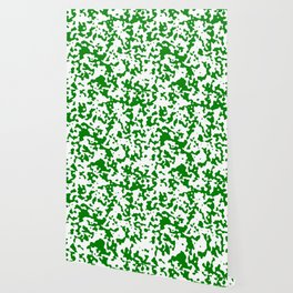 Spots - White and Green Wallpaper