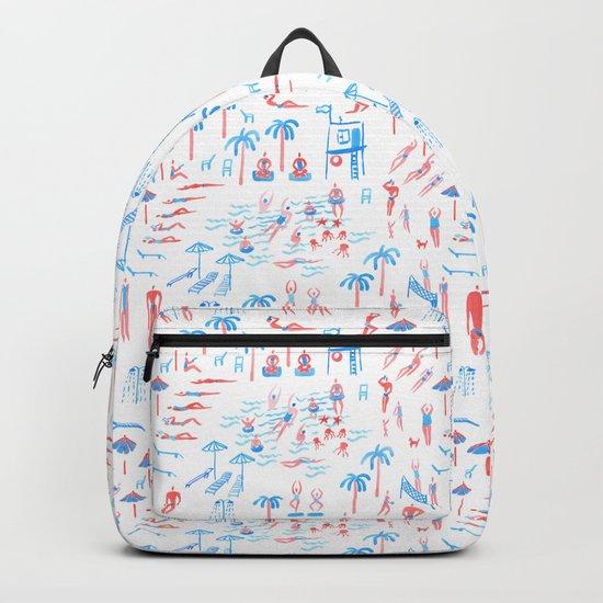 beach club pattern Backpack
