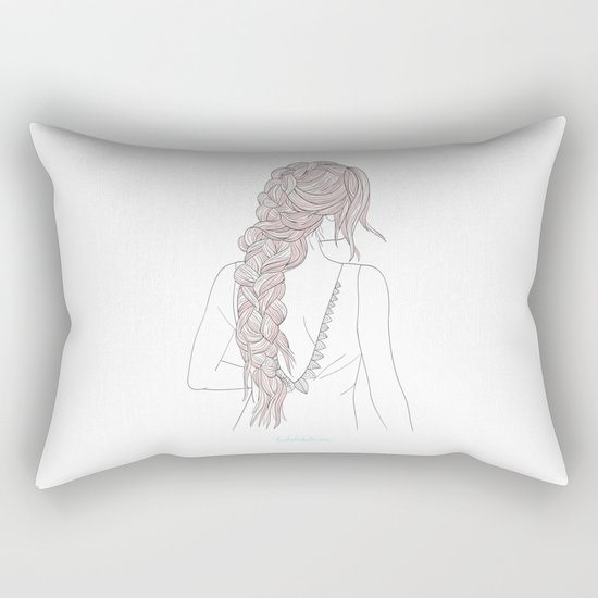 ROSEBRAID Rectangular Pillow