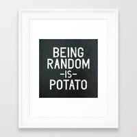 random Framed Art Prints featuring Random by Vectored Life