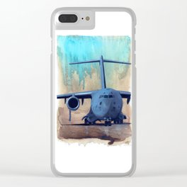 Teal Sandstorm Clear iPhone Case