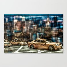 NYC - Yellow Cabs Canvas Print