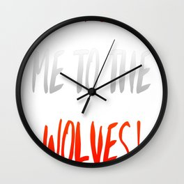 To-The-Wolves Wall Clock
