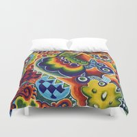globe Duvet Covers featuring Globe by Leah Moloney