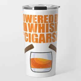 Funny Men Smoker Smoking Cigar Whisky Lover Gift Travel Mug