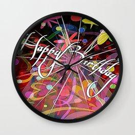 Cabsink16DesignerPatternHBW Wall Clock