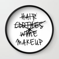 makeup Wall Clocks featuring Makeup by I Love Decor