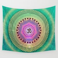 om Wall Tapestries featuring Om 11 by Tara Catalano Studios