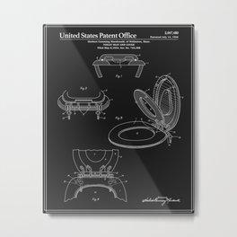 Toilet Seat and Cover Patent - Black Metal Print