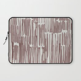 Simply Bamboo Brushstroke Red Earth on Lunar Gray Laptop Sleeve