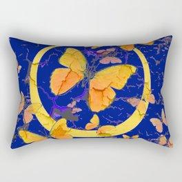 VINTAGE  YELLOW BUTTERFLIES SHABBY CHIC ART Rectangular Pillow