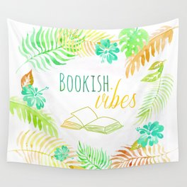 BOOKISH VIBES Wall Tapestry
