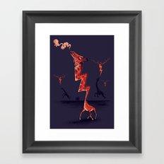 lightning rod Framed Art Print