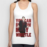 glee Tank Tops featuring Hunter Clarington - Whistle - Nolan Gerard Funk - Glee - Minimalist design by Hrern1313
