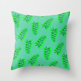 Sponged Foliage Pattern. Throw Pillow