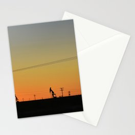 Oil Rig At Sunset 3 #texas Stationery Cards