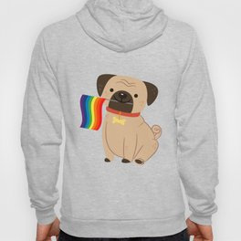 LGBT Gay Pride Flag Pug - Pride Gay Hoody