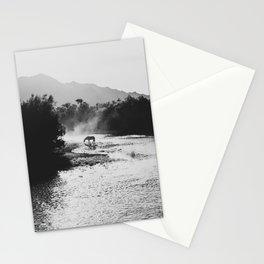 Black & White Arizona Wild Horse along the Salt River Mountains Stationery Cards